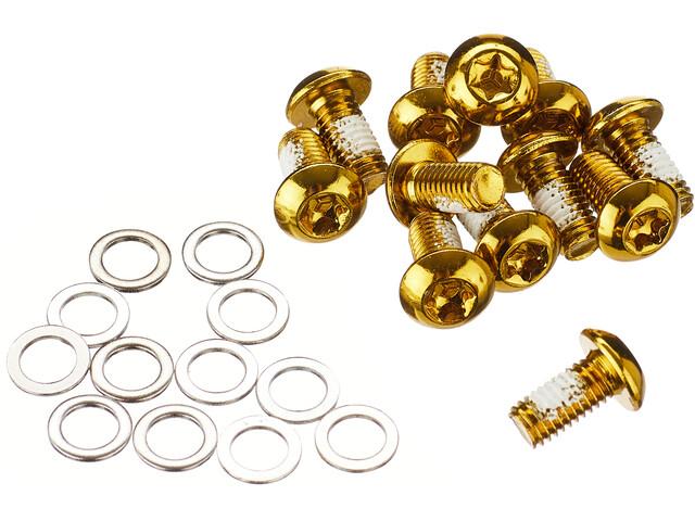 NOW8 Steel Bolts for Disc Brake Rotor 12 Pieces, Dorado